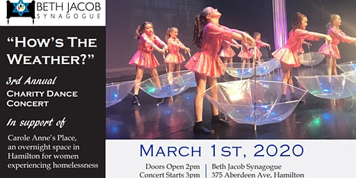 Charity Dance Concert in support of Carole Anne's Place