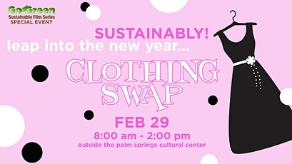 GO GREEN: Clothing Swap tickets