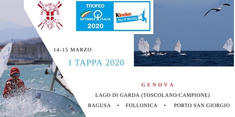 I Tappa Trofeo Optimist Italia Kinder Joy of moving biglietti