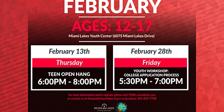 Youth Workshop: College Application Process tickets
