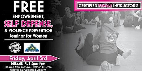 CANCELED! Violence Prevention & Self Defense Seminar - Deland FL tickets