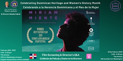 Miriam Miente—Dominican Heritage Day Film Screening + Discussion