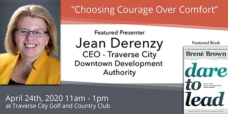 "April 24th - Jean Derenzy, ""Choosing Courage Over Comfort"" tickets"