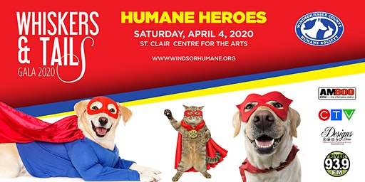 2020 Whiskers & Tails Gala - Humane Heroes