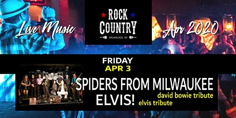Spiders From Milwaukee & Elvis! (David Bowie & Elvis tributes) at Rock Country! tickets