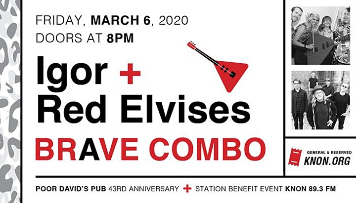 KNON Presents: Igor & The Red Elvises and Brave Combo! image