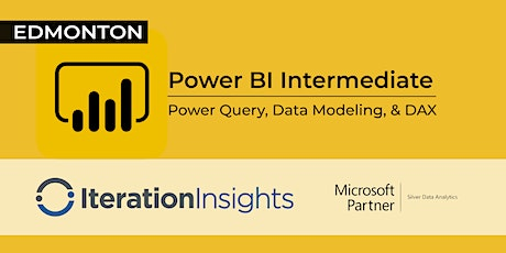HANDS DOWN THE BEST Power BI Intermediate Power Query, Data Modeling and DAX - Edmonton 2 Day tickets
