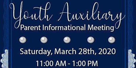 Youth Auxiliary Parent Informational Meeting tickets