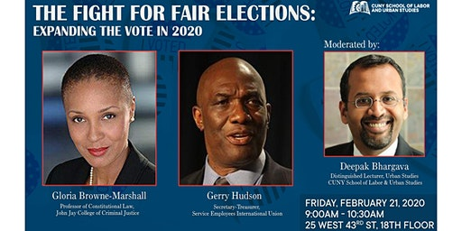 The Fight for Fair Elections:  Expanding the Vote in 2020