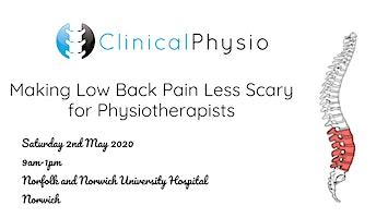 Making Low Back Pain Less Scary for Physiotherapists @ Norwich
