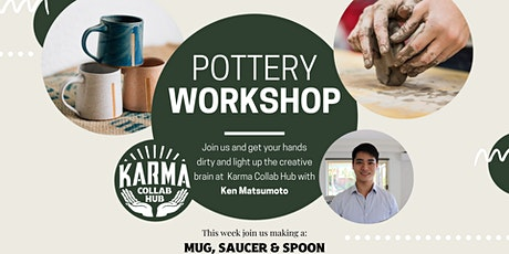 HANDBUILDING POTTERY - HOW TO MAKE A MUG, SAUCER & SPOON tickets