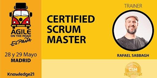 Certified ScrumMaster - CSM® + Scrum Práctico + Coaching Ágil + Cultura (Madrid, 28 y 29 de mayo) - Agile on the Road