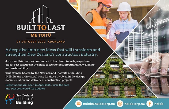 BUILT TO LAST – ME TOITU Conference image