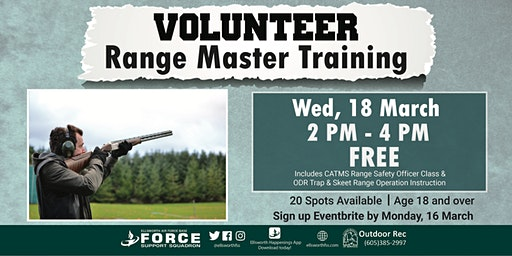 Ellsworth AFB Volunteer Range Master Training (Trap & Skeet) March 18