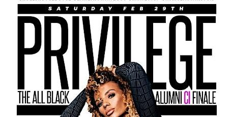 PRIVILEGE : ALL BLACK CI ALUMNI PARTY tickets