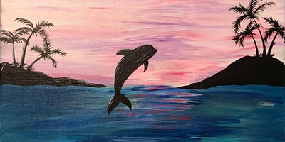 Fillmore Central Canvas Painting Youth- Dolphin