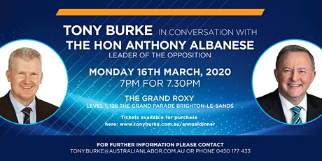 Tony Burke in Conversation with The Hon Anthony Albanese tickets