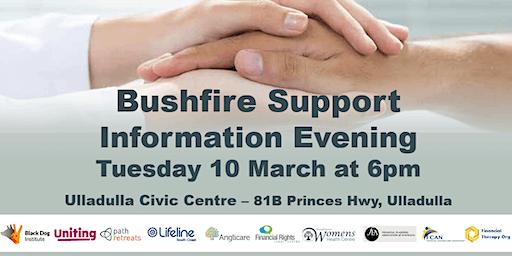 Bushfire Support Information Evening - Ulladulla