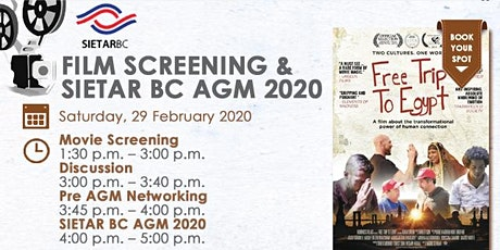 Film: Free Trip to Egypt & SIETARBC AGM 2020 tickets
