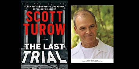 Scott Turow signs THE LAST TRIAL tickets