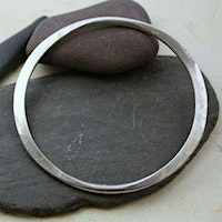 Sterling Silver Forged Bangle
