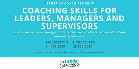 Coaching Skills for Leaders, Managers and Supervisors - HOBART tickets
