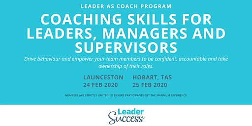 Coaching Skills for Leaders, Managers and Supervisors - HOBART
