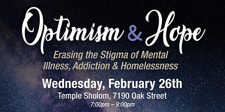 Optimism and Hope:Erasing Stigma tickets