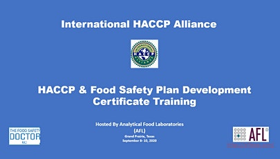 Grand Prairie, Texas: International Alliance HACCP & Food Safety Plan Development Certificate Training tickets