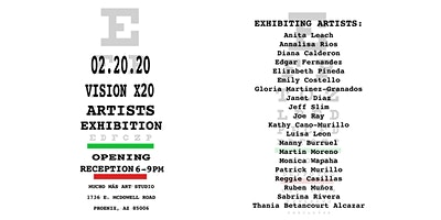 Gallery Debut: Vision x 20 Artist Exhibition