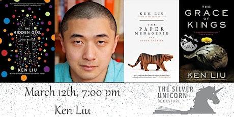 Author Event: Ken Liu at the 29 Rustic Mediterranean in Sudbury tickets