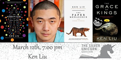 Author Event: Ken Liu at the 29 Rustic Mediterranean in Sudbury