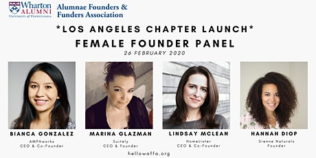 Wharton Female Founder Panel tickets