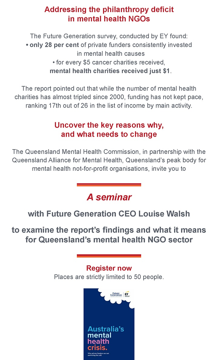 FREE EVENT Addressing the philanthropy deficit in mental health NGOs image