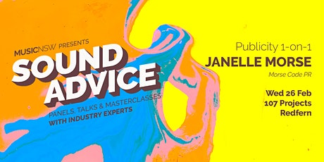 SOUND ADVICE Publicity 30min One-On-One (6:30pm) tickets