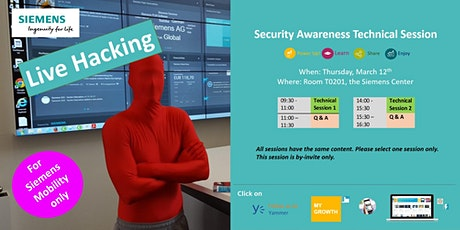 Security Awareness Technical Session tickets