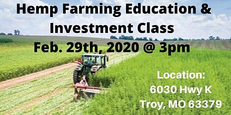 Hemp Farming Educational & Investment Class tickets