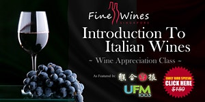Introduction To Italian Wines Class