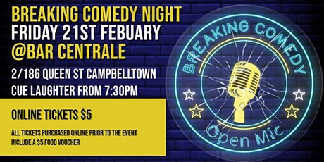 Breaking Comedy Open Mic - Feb 21st tickets