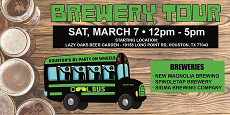 Cool Bus Houston Brewery Tour - 3/7 tickets
