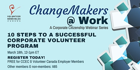 Webinar: 10 Steps to a Successful Corporate Volunteer Program tickets