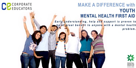 Join us in making a difference - YOUTH Mental Health First Aid Course tickets