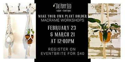 Macrame Plant Holder Workshop