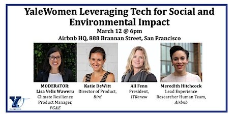 YaleWomen Leveraging Tech For Social And Environmental Impact tickets