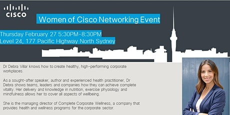 Women of Cisco Networking Event: Resilience in the Workplace tickets