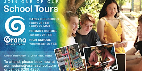 Orana Steiner School - Primary School Tour tickets