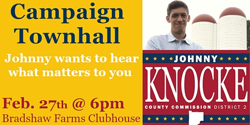 Knocke For Cherokee Campaign Townhall