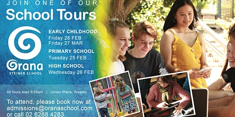 Orana Steiner School - High School & Senior College Tour tickets
