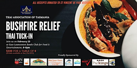 "Thai Association of Tasmania Bushfire Relief ""Thai Tuck-In"" tickets"