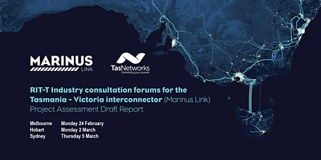 Marinus Link RIT-T Project Assessment Draft Report (PADR) forum Sydney tickets